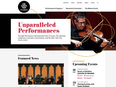 Orchestra of St. Luke's Website nyc new york city digital wireframes uxui ux design navigation responsive mobile branding orchestra music interactive sitemap launch desktop web web design