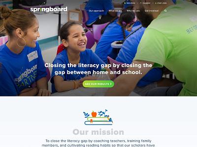 Springboard Collaborative Website interactive education iconography collaboration digital ui ux web design non-profit community development wireframes sitemap case study infographic identity illustration