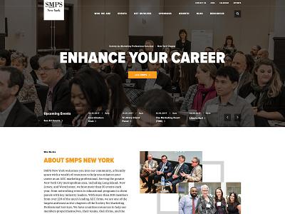 SMPS New York Website wordpress video functionality professional organization new york wireframes site map volunteer marketing community web design ux ui digital collaboration non-profit interactive