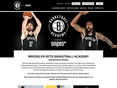 Brooklyn Nets Basketball Academy Website branding website functionality wordpress identity case study development youth community web design sitemap ux ui digital collaboration basketball sports summer camp education interactive