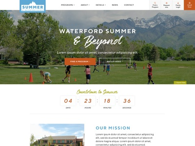 Summer at Waterford School Website navigation script wordpress map sitemap development wireframes community web design digital collaboration ux ui functionality program finder camp summer enrichment video interactive