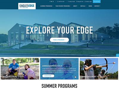 Eagles Edge Website education interactive video academic enrichment summer camp program finder functionality ui ux collaboration digital web design community wireframes development sitemap wordpress navigation