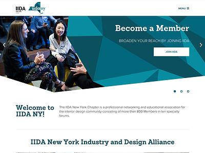 IIDA New York Website collateral membership education development wordpress identity wireframes sitemap case study networking community nonprofit web design ux ui digital branding collaboration professional organization interactive