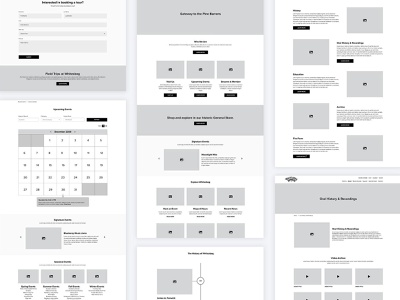 Whitesbog Wireframes prototypes community interface functionality interactive collaboration digital web design portfolio wireframes development information architecture ui ux adobe xd case study seo