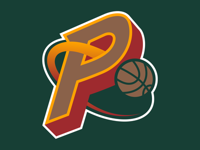 36 Days of Type: P design typography dropcap digital lettering green branding illustration logo sports basketball seattle goodtype vector type 36daysoftype16 36daysoftype