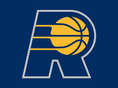 36 Days of Type: R design typography dropcap digital lettering gold blue branding illustration logo sports basketball nba pacers goodtype vector type 36daysoftype18 36daysoftype