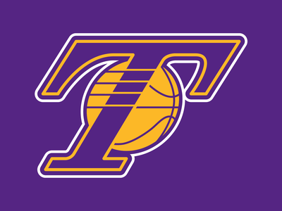 36 Days of Type: T design typography dropcap digital lettering branding gold purple illustration logo sports basketball los angeles lakers nba goodtype vector type 36daysoftype 36daysoftype20