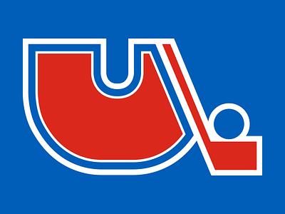 36 Days of Type: U 36daysoftype21 36daysoftype type goodtype sports logo nhl hockey illustration nordiques quebec red blue branding lettering digital dropcap typography design
