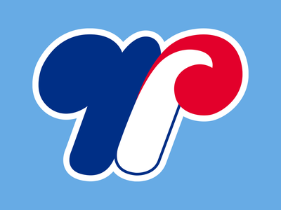 36 Days of Type: W 36daysoftype 36daysoftype23 type goodtype logo sports mlb baseball illustration montreal expos red blue branding lettering digital dropcap typography design