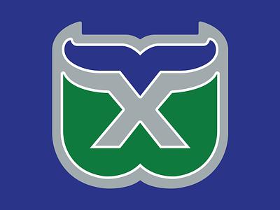 36 Days of Type: X x design typography dropcap digital lettering branding whalers hartford green blue illustration hockey nhl sports logo goodtype type 36daysoftype24 36daysoftype
