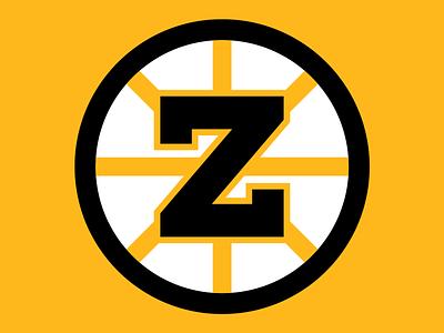 36 Days of Type: Z design typography dropcap digital lettering branding illustration nhl hockey sports logo goodtype type 36daysoftype26 36daysoftype gold black bruins boston