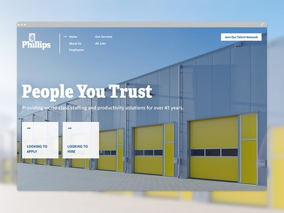 Phillips Staffing Careers - Web Design