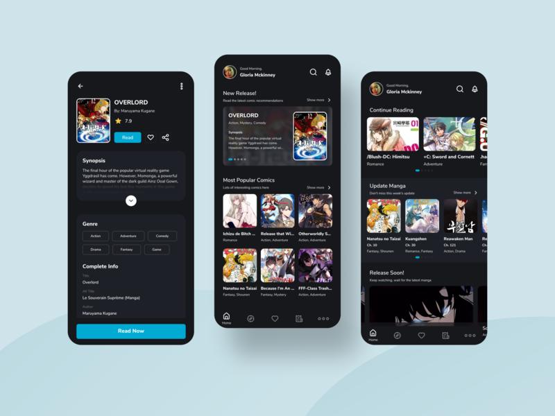 Comic Apps - UI Design