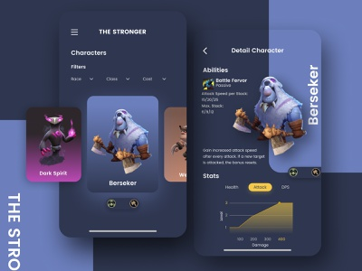 The Stronger App UI Kit games user interface ux uiux ui design sketch mobile ui mobile app mobile ios app invision studio figma adobe design app android app ui