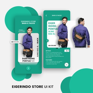 Eigerindo Store Bags and Packs UI Kit