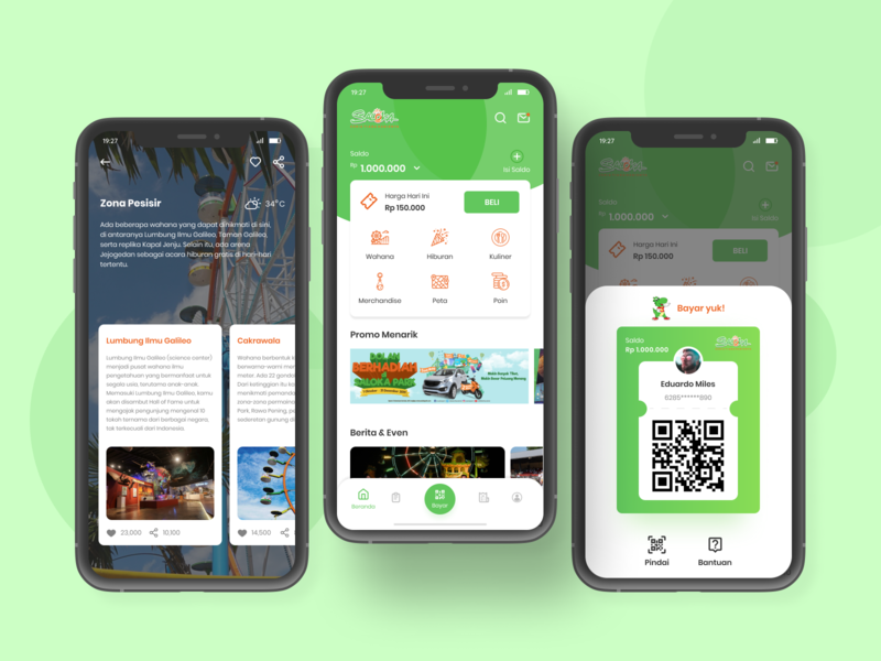 Theme Park Apps traveling travel android ios adobexd xd design scan qrcode qr online payment payment pay kids theme park figmadesign ui uiux ux figma design