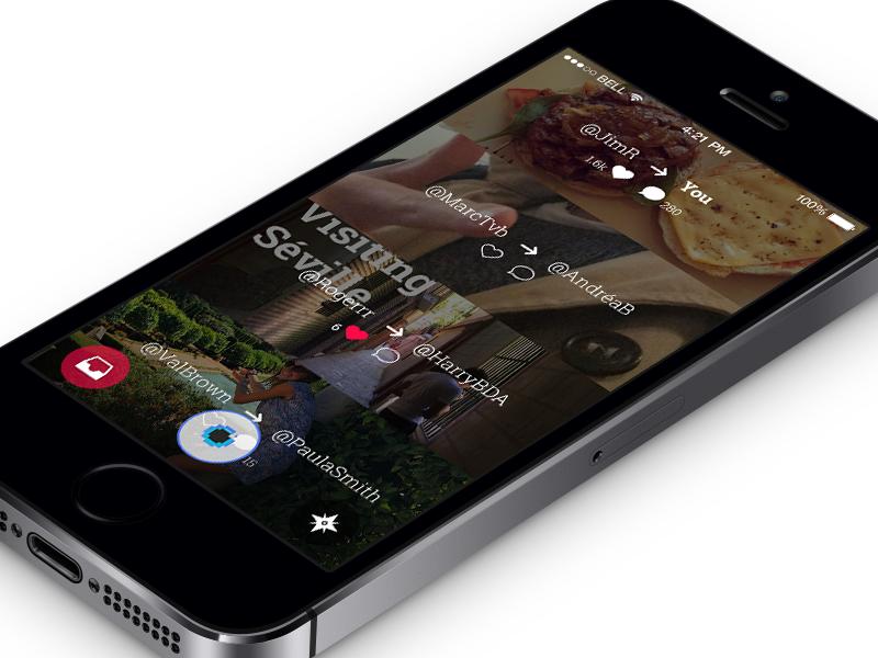 Home blic app blic photo ios iphone design ui mobile flat minimal simple