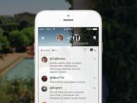 Blic App comment interface
