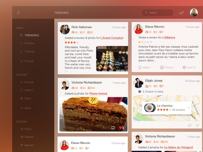 Trending Wall user interface ui card desktop social network