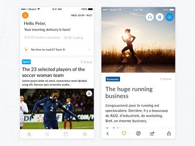 NewsFeed ux ios design app ui feed news
