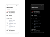 Schedule ux mobile minimal user interface dark ui app ios