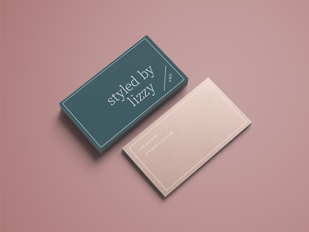 Styled By business card print design