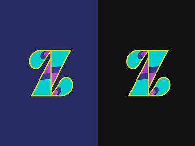 Peacock Z branding dailyui colourful zoo vector icon typography logo illustrator sketch illustration design peacock