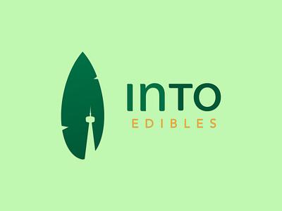 Marijuana Edibles Branding brand identity edibles leaf minimal minimalistic logo natural logo natural toronto branding toronto marijuana logo brand design weed typography dailyui branding logo illustrator vector illustration