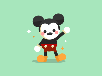 Mickey Mouse mickeymouse artwork disney art disney illustration design design shadow inspired illustration art vector shapes sketch illustrator illustration mickey mouse