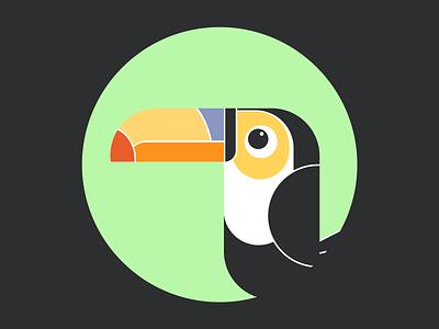 Toucan animal art artwork animal art toucan brand design illustration design design sketch illustrator vector illustration