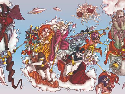 Deus Ex Libro  illustration religion marketing tribute