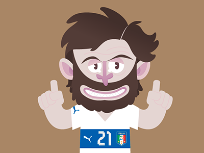 Road to World Cup  football soccer worldcup brasil italy pirlo seriea illustration vector flat