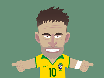 Road to World Cup  football soccer worldcup brasil neymar liga illustration vector flat