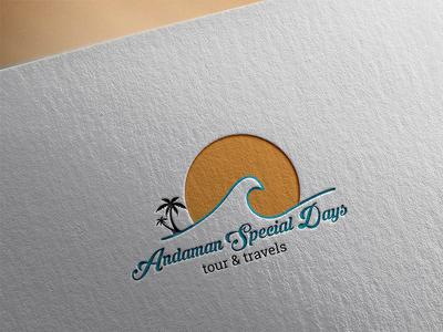 Andaman Special Days tour and travels logos illustration logoshape design branding illustrator logo icon for any business