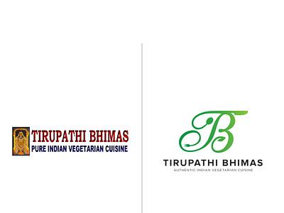 Tirupathi Bhimas New Logo typography logos flat logoshape illustration branding design logo illustrator icon
