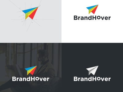 BrandHover Logo Concept typography logos flat branding logoshape illustration design logo illustrator icon