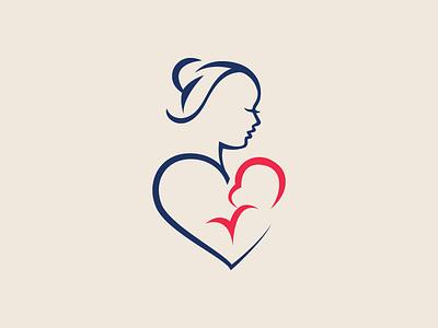 Mother's Day Logo vector logos flat logoshape branding illustration design logo illustrator icon