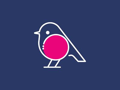 Australian Pink Robin Logo vector illustration minimal logos logoshape design illustrator icon logo