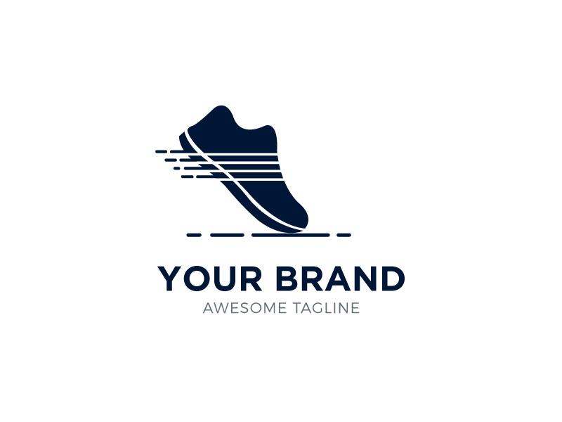 Running Shoe Logo typography minimal flat type vector logo illustrator illustration icon design branding