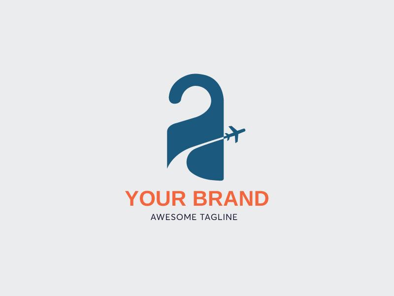 Hotel Tag Logo branding logo illustrator icon logosale art creativelogo logoshape tag budget cheap package travelagency trip vacation tickets airline flight hotel travel