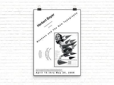 Herbert Bayer Poster indesign portfolio advertisement bauhaus herbert bayer graphic designer type design type type layout poster design poster design graphic design