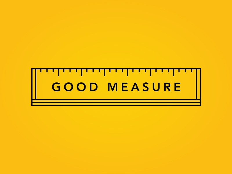 Good Measure logo ruler design good measure