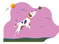 Jack Russell limited palette jack russell dog illustration