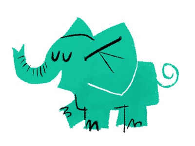 testing illustration elephant