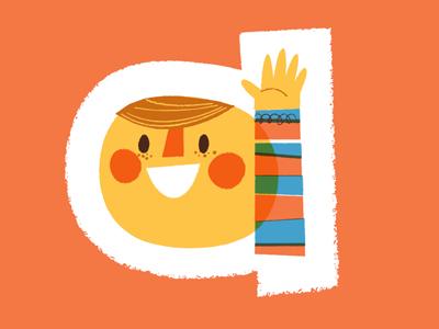 a! illustration alphabet a kid