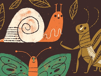 buggy! illustration bugs insects