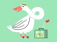 traveling goose