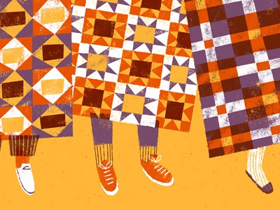 quilters illustration quilts quilters feet shoes