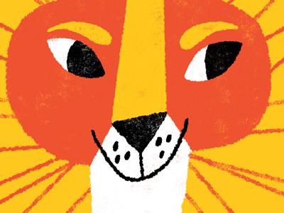 lion face illustration lion big cat