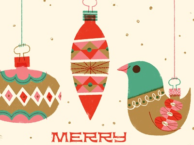 Merry Ornaments! illustration christmas ornaments